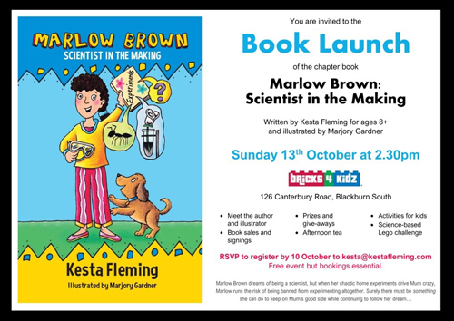 Marlow Brown Scientist launch flyer